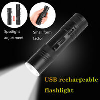 XHP50 Flashlight USB LED Torch Telescopic Zoom 18650/26650 Battery Outdoor