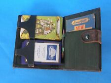 Vintage 1940's Culbertson System Contract Bridge Playing Card W/Pocket Outline