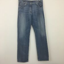 Armani Indigo 002 Series Distressed Jeans 32 Actual 34x34 Jeans Made in Italy