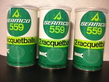 Vintage Seamco 559 Racquetballs 3 Sealed Cans 2 balls in each can Made in USA