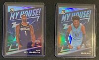 2019-20 Panini Optic ZION WILLIAMSON + JA MORANT My House Silver Prizm Rookies!