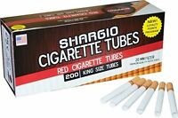 Shargio Red Filtered Regular Cigarette Tubes King 1 Box 200 Ct.