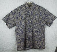 Vintage Campia Moda Hawaiian Shirt Aloha Floral Medium Rare chill beach surf