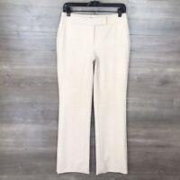White House Black Market Women's Size 2 Modern Bootcut Pants Beige Suiting