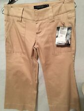 Rampage Clothing co New Junior Tan Khaki Capri Belted  Pants Sz 3
