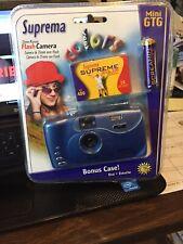 Brand New SUPREMA Mini GTG 35MM Manuel Flash Camera Kit Blue with Film & Case