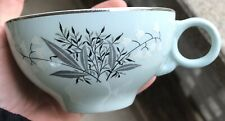 """MCM Lady Empire Permacal Lily Of The Valley Mint Green Tea Cup 2 1/4 X 5 1/4"""""""