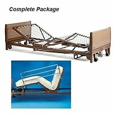 Full Electric Hospital Bed Package (Mattress + Full Rail) + Bonus Overbed Table