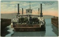 Southern Pacific Transfer Steamer Ship Solano Port Costa California CA Postcard