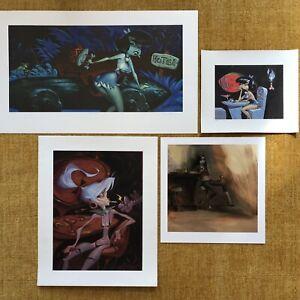 Glenn Barr  Four piece  Art Print collection  Lowbrow , B Culturalism Coolness !
