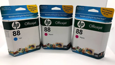 HP Office Jet 88 Ink Cartridges Lot of 3 Two Magenta One Cyan NIB Expired
