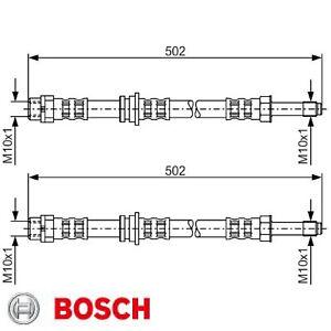 2x Bremsschlauch BOSCH 1987476971 2 Bremsschläuche rechts links Hinten BMW