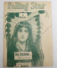 """Sheet Music &#034 00004000 ; Falling Star """" Copyright 1902"""