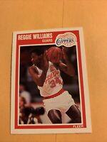 #74 Reggie Williams Los Angeles clippers 1989/90 fleer basketball card Cb17