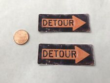 1/10 scale Weathered Detour Construction Signs For Your R/C Diorama