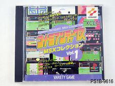 Konami Antiques MSX Collection Vol 1 Playstation 1 Japanese Import PS1 US Seller