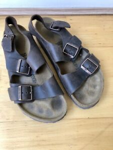 Birkenstock Unisex Milano Oiled Leather Sandal (Habana Size 42 EU)