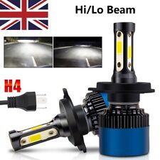 2 x H4 COB CREE LED Super Bright White Headlight Headlamp Main Dipped Beam Bulbs