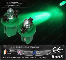 LED T5 Cap B8.5D 509T Green Dashboard Cluster Speedometer Instrument Light Bulbs
