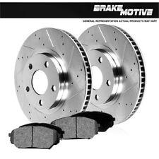 FRONT Drill Slot BRAKE ROTORS & Pads For 2005 2006 2007 2008 2009 - 2011 Dakota