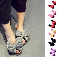 Herren Damen Weiche Warme Hausschuhe Winter Anti-Slip Plüsch Slippers Sandals P/