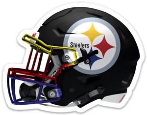 Pittsburgh Steelers Black 3 star logo type design NFL Helmet Die-cut MAGNET