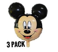 3 DISNEY Mickey Mouse Head Air Fill Party Balloons
