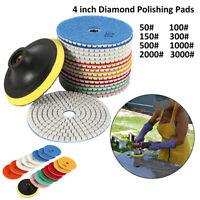 """16pcs Diamond Polishing Pads 4"""" Grinder Disc Kit Granite Marble Concrete Stone"""