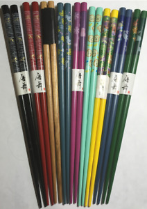 Pair of Black Painted Hair Sticks with Genuine Abalone Shell Beads