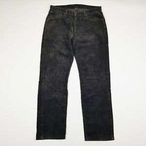 LEVIS Mens 751 Corduroy Jeans Trousers Cords Straight Leg Grey W34 L30