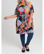 Plus Size Floral Multi Colour - Cold Shoulder Viscose Dress Size 24 Free Post