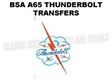BSA A65 Éclair Débardeur Transferts Stickers Autocollant D50072 Moto Classique