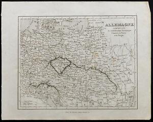 Carta Antica Di 1836c: Germania,Austria,Polonia,Prussia