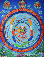 """34"""" BLESSED TIBET THANGKA PAINTING POSTER: MANDALA OF THE UNIVERSE IN BUDDHISM ="""