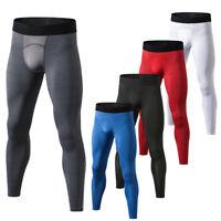 Men's Compression Pants Sports Gym Base Layers Spandex Long Plain Tights Dri fit