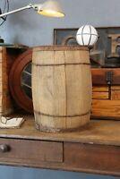 Vintage Wooden Nail Keg Barrel Farm Primitive Rustic Storage wood Basket Decor