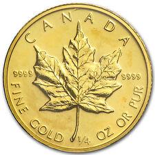 1986 Canada 1/4 oz Gold Maple Leaf BU - SKU #82825
