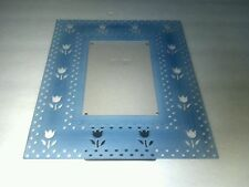 Blue Flower Metal Photo Picture Frame