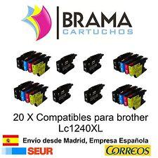20 x compatibles Brother Non-oem para Lc-1220 Lc-1240 MFC J835DW J5910DW J6510DW