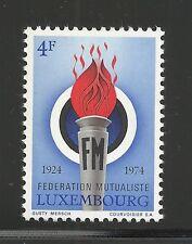 Luxembourg Scott #541, Single 1974 Complete Set Fvf Mnh