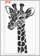 Large Cute Giraffe Head Stencil MYLAR A4 sheet strong reusable Art Craft Deco