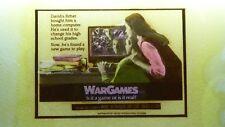 WAR GAMES  - MAGIC LANTERN PROJECTION GLASS SLIDE CINEMA MOVIE ADVERTISING