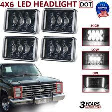 "4X DOT Approved 4x6"" Sealed Beam LED Headlight For Chevy Pickup Truck 81-87 Ford"