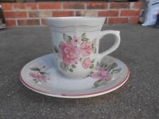 Vintage GIBSON ROSELAND  Pink Rose COFFEE CUP and SAUCER  Retired