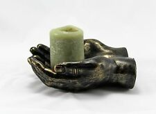 Large Cupped HAND Tealight CANDLE HOLDER  Effect Brass effect Ornament Home Deco