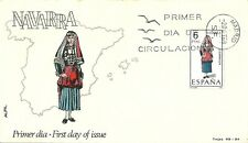 Spain 1969 First Day Cover - Regional Costumes - Navarra