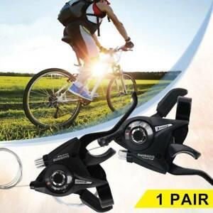 Coppia Comandi Cambio + Leve Freno 3x7/3X8 SHIMANO Manopole B Bici MTB City Bike