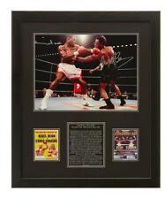 More details for framed nigel benn & chris eubank dual signed boxing photo proof & coa