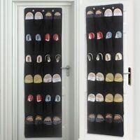 24 Pockets Over Door Hanging Bag Box Shoe Rack Hanger Storage Tidy Organizer UK