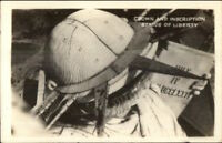 New York City Statue of Liberty Showing Crown Real Photo Postcard